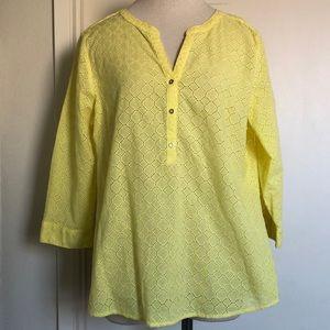 Liz Claiborne yellow top